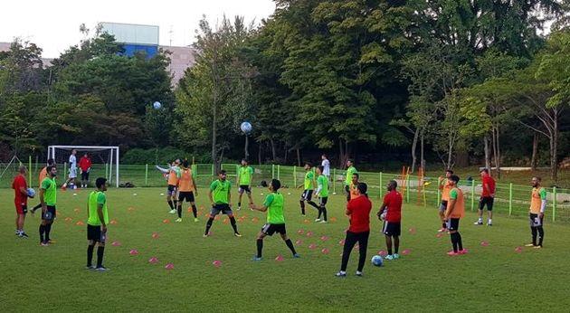 تمرین تیم ملی فوتبال ایران در هتل