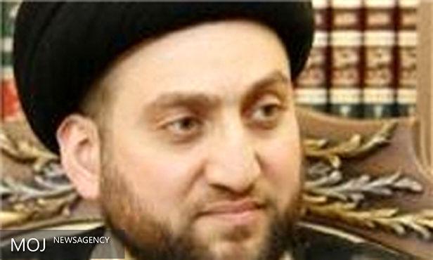 حجتالاسلام والمسلمین سید عمار حکیم با آیت الله شهرستانی دیدار کرد