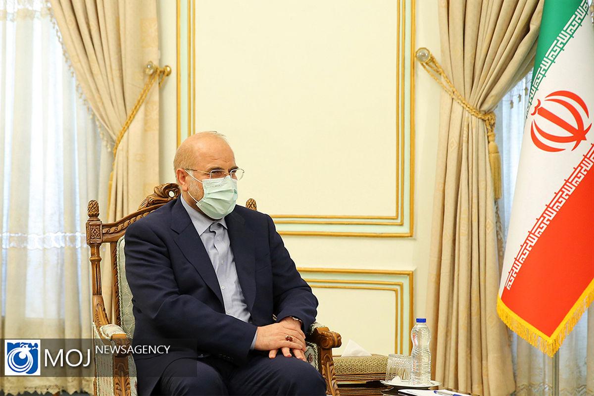 قالیباف عید قربان را به روسای مجالس کشورهای اسلامی تبریک گفت