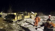 اسامی جانباختگان واژگونی اتوبوس آزادراه زنجان تبریز اعلام شد