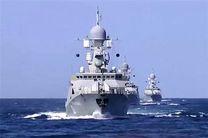 ناوگروه نیروی دریایی روسیه در منطقه چهارم نداجا پهلو گرفت