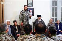 دیدار فرماندهان و مسوولان پدافند هوایی ارتش با رهبر انقلاب