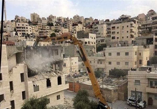 رژیم صهیونیستی یک آپارتمان 4 طبقه را در قدس تخریب کرد