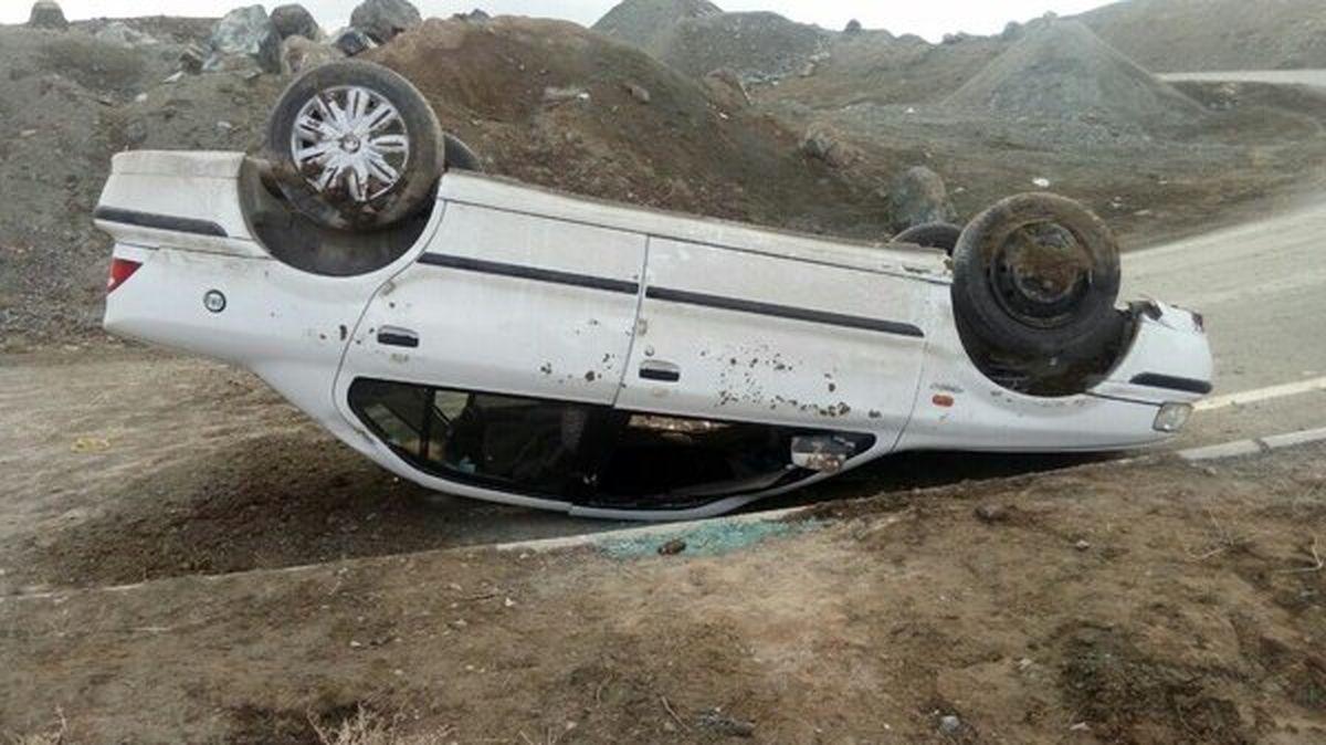 2 کشته و یک مجروح در اثر واژگونی خودروی سمند در اصفهان