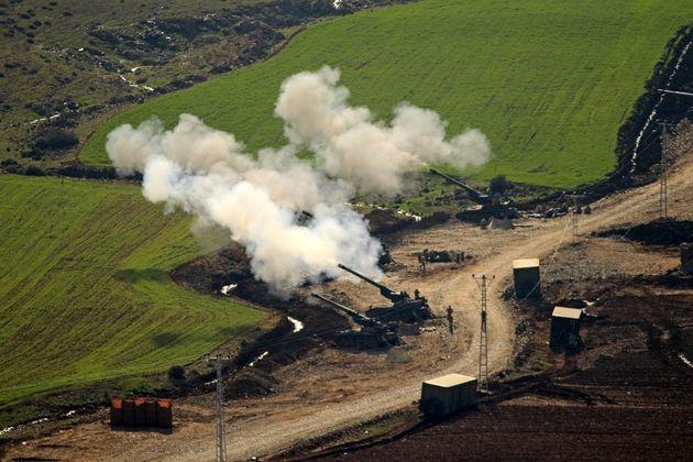 حمله توپخانه ای ارتش سوریه به نیروهای ترکیه