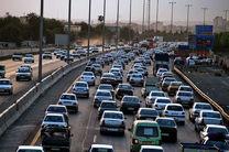 ترافیک در آزادراه کرج سنگین است