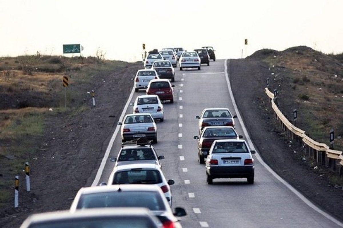 تردد در محورهای برون شهری افزایش یافت