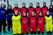 فوتسال مریوان در صدر رقابت های فوتسال لیگ دسته یک دختران کشور ایستاد