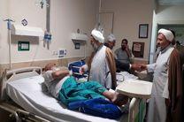 رئیس سازمان عقیدتی ارتش از بیماران اهل تسنن در زاهدان عیادت کرد