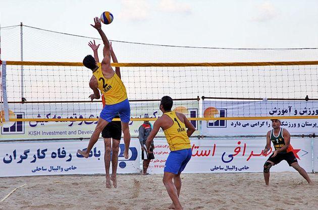 رقابتهای والیبال ساحلی جام رمضان در سلمانشهر آغاز شد