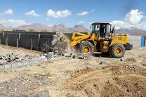 تخریب 6 ساخت و ساز غیر مجاز در اراضی کشاورزی خمینی شهر