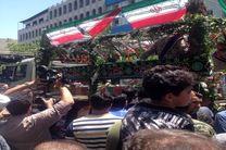 آغاز مراسم تشییع پیکر مطهر شهدای ترور در دانشگاه تهران