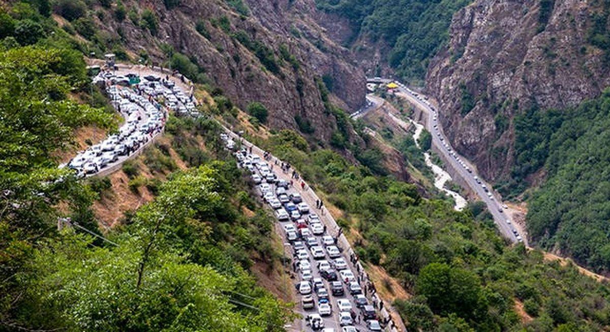 بروز ترافیک سنگین در محور کرج - چالوس
