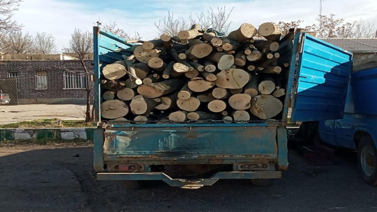 کشف 2.5 تن چوب جنگلی قاچاق در شهرستان خلخال