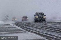بارش برف و باران در محورهای مواصلاتی ۹ استان کشور