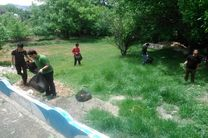 پاکسازی منطقه حفاظت شده  قمصر و برزک در کاشان