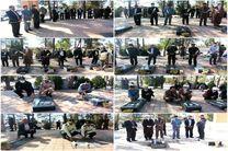 عطرافشانی قبور مطهر شهدا در شهرستان اردستان