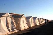 استقرار ۴۱ دستگاه چادر امدادی برای اسکان زلزلهزدگان قوچان