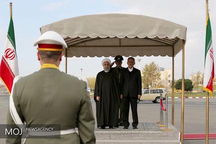 بدرقه رسمی رییس جمهوری پیش از سفر به روسیه