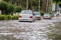 بارش شدید باران باعث آبگرفتگی معابر در رامسر شد