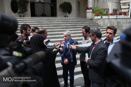 حاشیه جلسه هیات دولت -  ۱۸ اردیبهشت ۱۳۹۸/محمد باقر نوبخت رییس سازمان برنامه و بودجه