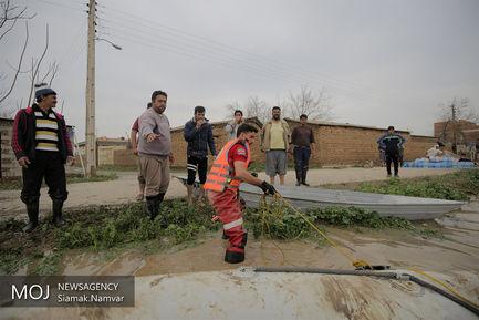 امداد رسانی به روستاهای سیل زده آققلا