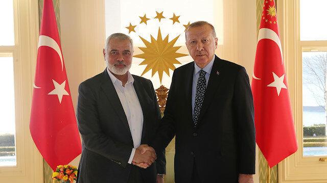 Erdoğan met with Hamas political chief