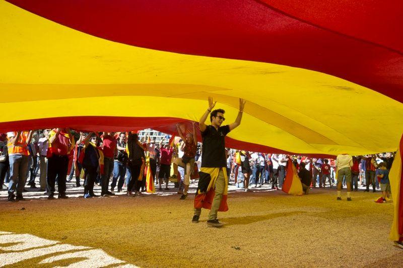 برگزاری تظاهرات وحدت در اسپانیا