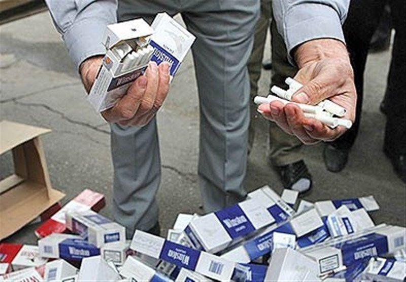 کشف محموله میلیاردی سیگار قاچاق در صحنه