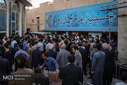یادواره شهدای بازی دراز در کرمانشاه با حضور محمد باقر قالیباف
