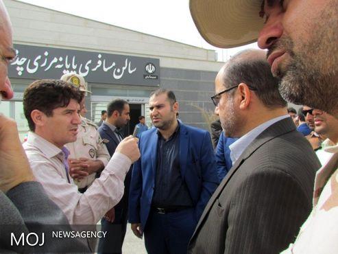 رئیس گذرنامه و امور مرزهای وزارت کشور از پایانه مرزی چذابه بازدید کرد