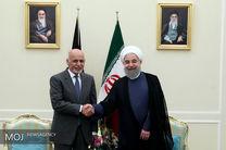 حسن روحانی با رئیس جمهور افغانستان دیدار کرد