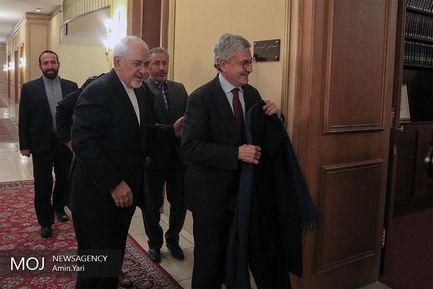 دیدار نخست وزیر و وزیر خارجه سابق ایتالیا با ظریف