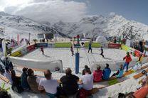 برای اولینبار در آسیا، والیبال در برف در پیست دیزین