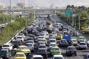 ترافیک سنگین در اتوبان همت، حکیم و نواب