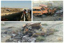 2 کشته و چهار مصدوم در اثر واژگونی کامیون خاور در نطنز