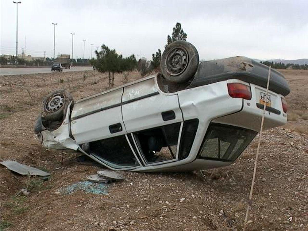 واژگونی مرگبار یک خودرو پراید با 3 کشته در علویجه
