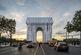 پارچه های پدیدار شناختی روی طاق نصرت پاریس