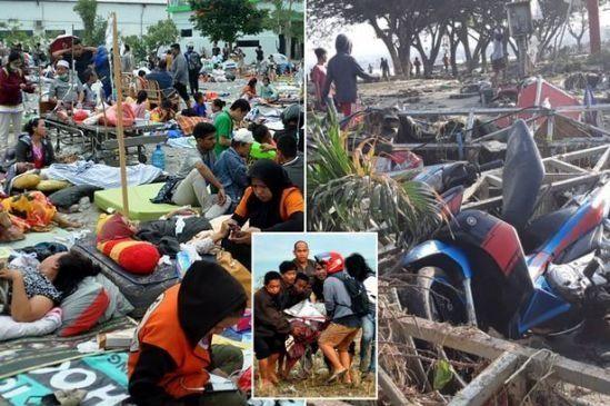 اندونزی خواستار کمک های بین المللی شد/قربانیان زلزله ۷.۴ ریشتری به ۱۲۰۳ نفر رسید
