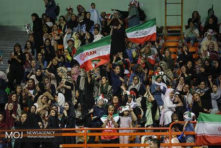 دیدار تیم های والیبال ایران و آرژانتین