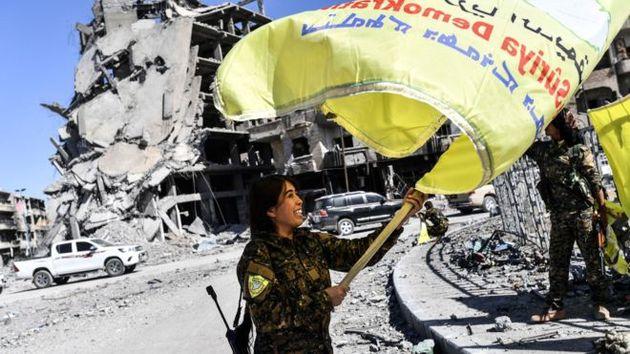 پایتخت سوری داعش آزاد شد
