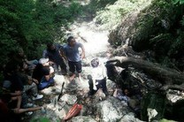 جوان ۲۲ ساله بر اثر سقوط از آبشار خانببین جان باخت