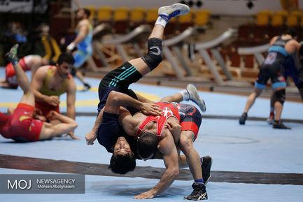 تمرین تیم ملی کشتی فرنگی