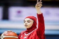 دختر هرمزگانی در جمع اردونشینان تیم ملی بسکتبال