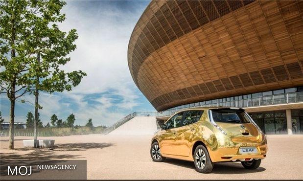خودروی الکتریکی طلایی نیسان جایزه قهرمانان المپیک ریو + تصاویر