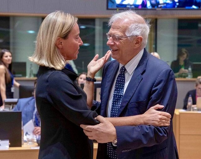 خداحافظی موگرینی از اتحادیه اروپا / جوزپ بورل جانشین موگرینی شد