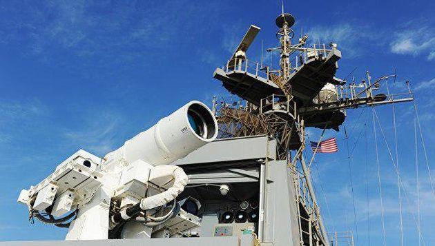 آزمایش سلاح لیزری جدید آمریکا در خلیج فارس