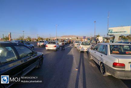 بازدید استاندار اصفهان از از طرح غربالگری خودروها