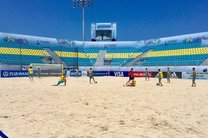 نخستین تمرین تیم ملی فوتبال ساحلی در ورزشگاه اصلی جام جهانی برگزار شد