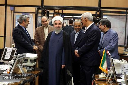 بازدید حسن روحانی از وزارت کشور